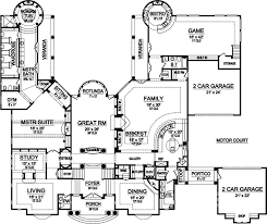 house plans with portico luxury style house plans plan 63 446