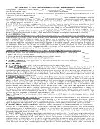 Real Estate Word Templates by Free Florida Exclusive Right To Lease Agreement Pdf Template