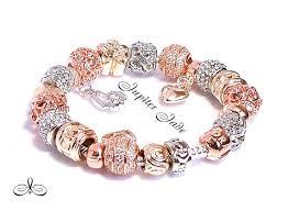 rose gold silver bracelet images Pandora 14kgp rose gold clasp 925 silver by jupiterjadejewelry jpg