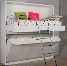 bureau superposé lit superposé escamotable contemporain en bois lift bed