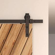 Home Decor Barn Hardware Sliding Barn Door Hardware 10 by American Pro Decors Black Solid Steel Decorative Sliding Rolling