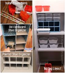 inexpensive herb closet makeover