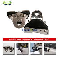 work light mounting bracket 2 pieces j198 universal steel auto hood led work lights mounting