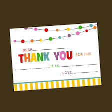 fill in the blank rainbow thank you card