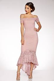lace dress pink lace v bar maxi dress quiz clothing