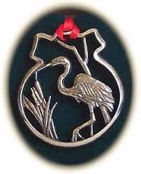 the maryland store pewter heron ornament