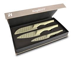 berghoff eclipse 3pc ceramic cutlery set home kitchen amazon com berghoff eclipse 3 piece ceramic knife set boxed knife