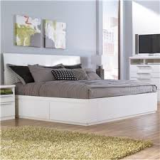 White King Platform Bed Jansey Metro Modern White King Bed With Side Storage Unit By