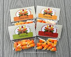 thanksgiving turkey toes corn treat bag tags thanksgiving
