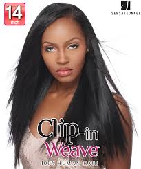 clip in human hair extensions sensationnel clip in weave yaki clip in 14
