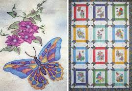 19 designs for crayon coloring embroidery