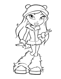 winter bratz coloring pages coloring pages