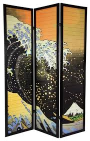 Asian Room Dividers by 6 Ft Tall Japanese Wave Shoji Screen Asian Screens And Room