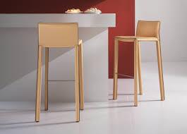 bonaldo mirtillo leather bar stool contemporary bar stools by
