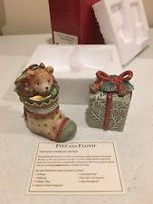 fitz floyd sullivan the snowman salt pepper shakers winter