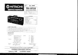 hitachi trk w550 service manual download schematics eeprom