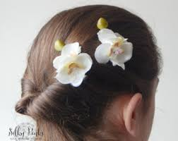 hair clasps ivory hair clip etsy