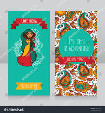 doodle indian lovely doodle indian on banner stock vector 241163476