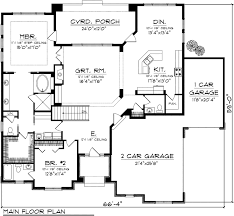 prairie style home floor plans first floor plan of prairie style house plan 97362 awesome main