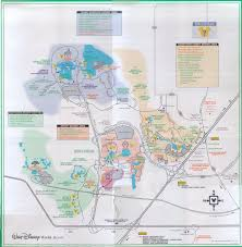 Walt Disney World Resorts Map by Disney World Map