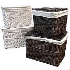 cane laundry hamper large medium wicker storage trunk lid chest hamper basket blanket