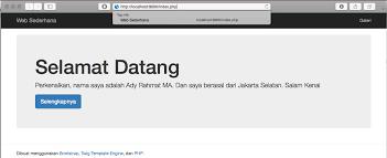 membuat website bootstrap membuat web sederhana menggunakan php twig template engine dan
