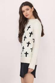 trendy black sweater white sweater wool sweater 14