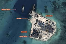 Spratly Islands Map South China Sea Sees Significant Construction Geographical