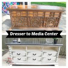Convert Dresser To Changing Table Chunky Dressers Converted To Media Centers Designed Decor