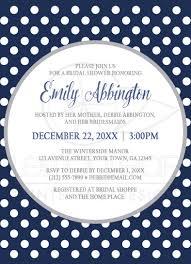 bridal shower invitations gray navy blue polka dot