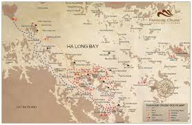 Lan Route Map by Halong Bay 3 Day 2 Night Cruise Paradise Luxury Cruise