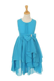 yoryu chiffon asymmetric ruffled flower dress