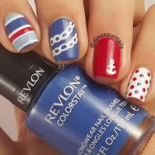15 fashionable nail designs with anchor patterns for summer