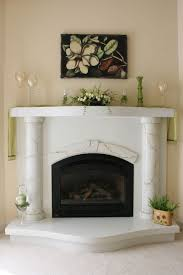 white concrete fireplace surround with marbled columns truecrete