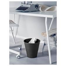 Waste Paper Bins Fniss Trash Can Black Ikea