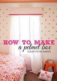 How To Make Ruffled Curtains How To Make A Pelmet Box Tutorial A Thoughtful Place