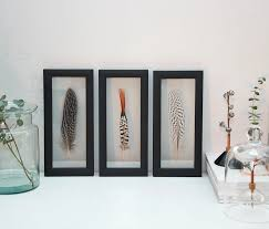 framed feather collection nordic home decor interior styling