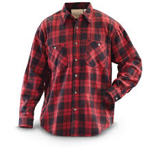 Flannel Shirts Kilimanjaro Buffalo Plaid Sleeved Flannel Shirt 281553