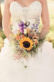sunflower wedding bouquet sunflower wedding bouquets summer and fall weddings