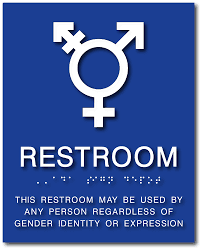 Bathroom Symbols All Gender Neutral Symbol Bathroom Sign With Braille