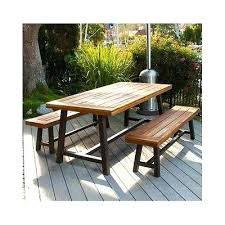patio table and bench outdoor table with benches stgrupp com