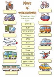 english exercises means of transportation