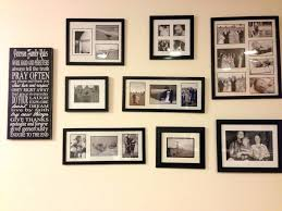 maroon wall paint photo frame wall decor ideas black collage picture frames with