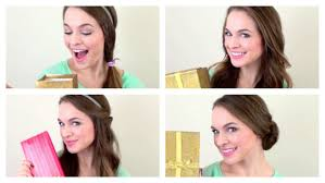 4 quick christmas morning hairstyles youtube