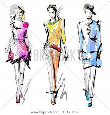 fashion models sketch poster id 45175657