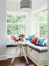 Corner Window Bench Seat Space Saving Interior Design Ideas For Corner Kitchen Nooks And