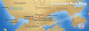 map port shenzhen maps maps of port subway city of shenzhen