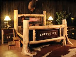 Cheap Log Bed Frames Salvage Items Turned Into Bedroom Headboards Tailgating Flags