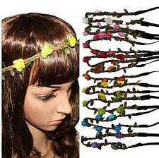 hippie flower headbands 6 sale flower headband flower crown headband hippie flower