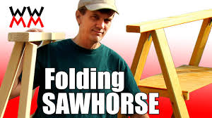 build a folding sawhorse woodworking for mere mortals